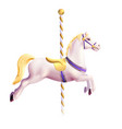 Carousel Horse Realistic vector image