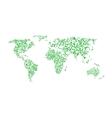 Green world map vector image