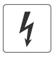 Lightning icon Electricity bolt sign vector image