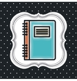 notebook icon design vector image