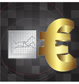 financial background with euro sign vector image