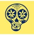 Hand-drawn sugar skull vector image