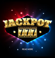 jackpot 777 lucky triple sevens jackpot casino vector image