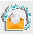 message envelope letter web vector image