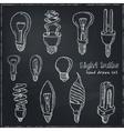 Doodle Set of light bulbs vector image