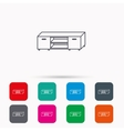 TV table stand icon Television furniture sign vector image