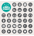 Music icon set EPS10 vector image