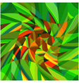 Mosaic complex green background eps10 vector image vector image