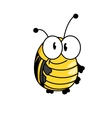 Happy smiling fat little bumble bee vector image