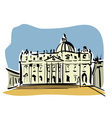 Rome St Peters Basilica vector image