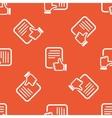 Orange good document pattern vector image
