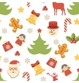 Christmas background seamless pattern vector image vector image