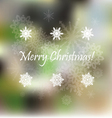 Light Christmas background with snowflakes vector image vector image