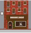 a house with a bakery vector image