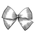 bow with ribbon vector image