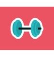 Gym weights equipment vector image