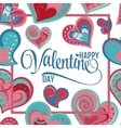Happy Valentines Day Hand Drawing Lettering design vector image