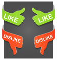 like and dislike vector image