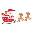 Santa in sledge isolated vector image