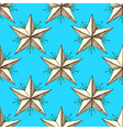 Sketch star in vintage style vector image