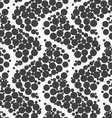 Textured with dots big ripples vector image