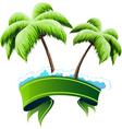 Tropical resort concept vector image