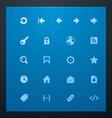 universal glyphs 7 web icons vector image