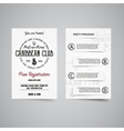 caribbean party back and front flyer template vector image