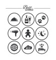 hotel apartment service icons restaurant sign vector image