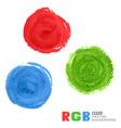 RGB watercolor paint circles vector image