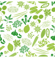 spices and seasonings icons color seamless pattern vector image