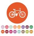 The bicycle icon Bike symbol Flat vector image