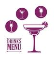 Drinks icon design vector image