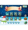 Christmas game vector image