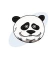funny panda face vector image