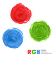 RGB watercolor paint circles vector image
