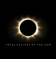 total eclipse of the sun poster vector image
