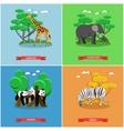 Zoo concept banner Wildlife animals vector image