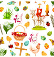 easter holiday symbols seamless pattern background vector image vector image