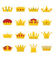 royal crowns se vector image