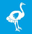 ostrich icon white vector image