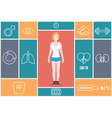 Infographic of fitness and health indicators vector image vector image