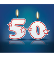 Birthday candle number 50 vector image