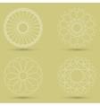 modern white geometric shape guilloche vector image