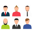 modern people profile silhouettes set vector image
