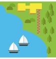 elements for easy creating maps vector image