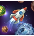 Movie poster with planets moon stars and space vector image vector image