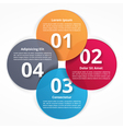 Four Steps Infographics vector image vector image