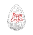 Template card with Easter eggs chicken and vector image
