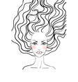 Beauty girl face vector image vector image